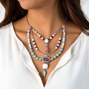 Turkish Delight Multi-Row Necklace